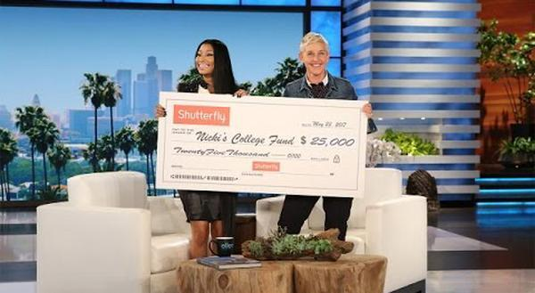 Nicki Minaj x Ellen DeGeneres: Talks Nas Dating Rumors & Giving Back To College Students With Financial Needs (Video) 1
