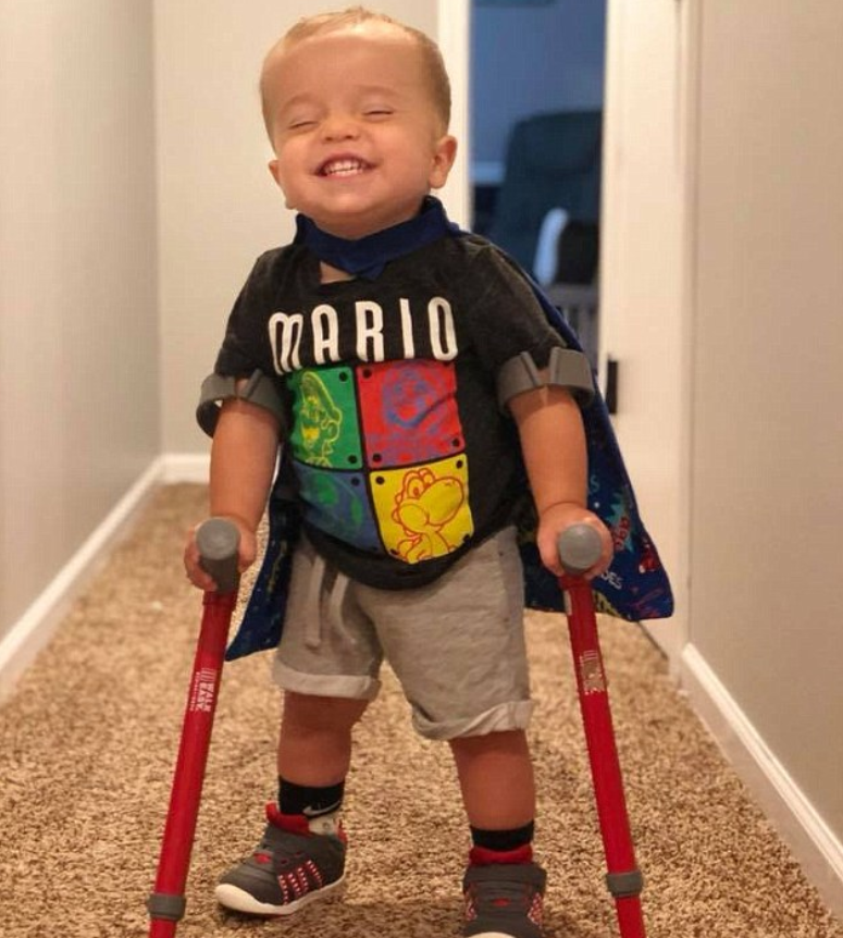 Boy With Spina Bifida Walks On Crutches And Shares Excitement With His Best Mate Dog 2